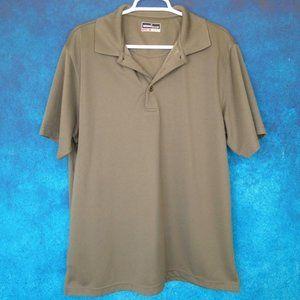 Grand Slam Brown Golf Polo Shirt Size Large